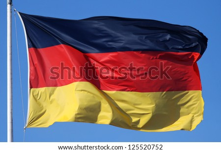 Close-up of a national flag of Germany - stock photo