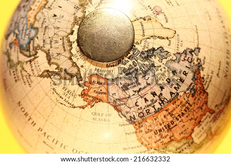 Close up of a Old Globe - stock photo