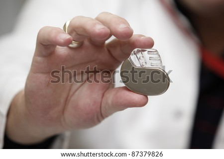 close up of a pacemaker in a hospital - stock photo