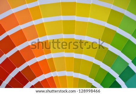 Close up of a pantone color catalog - stock photo