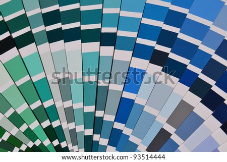 Close up of a pantone color sample - stock photo
