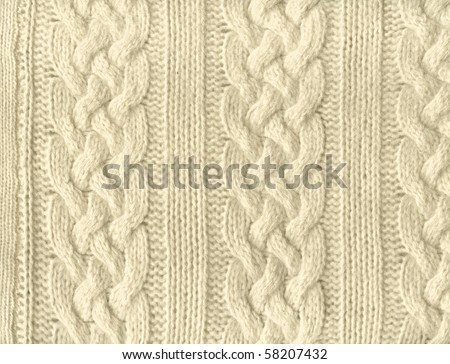 Close-up of a piece of knit fabric - stock photo