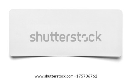 close up of  a piece of note paper on white background - stock photo