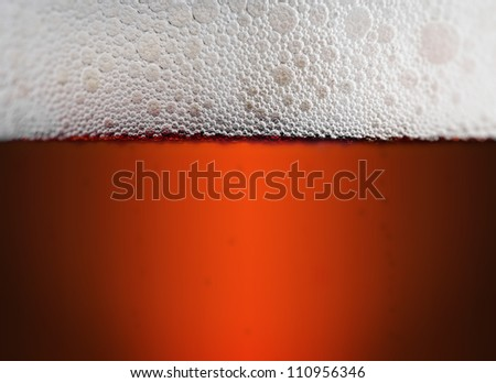 Close up of a pint of beer - stock photo
