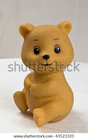 Close up of a plastic toy bear - stock photo