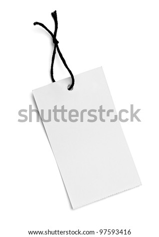 close up of  a price label on white background - stock photo