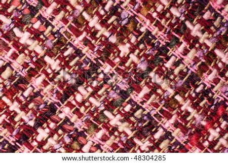 Close up of a purple textile cloth - stock photo