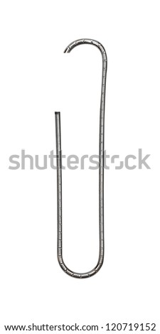 close up of a pushpin on white background - stock photo