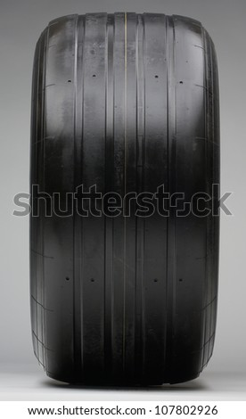 Close up of a racing car tyre - stock photo