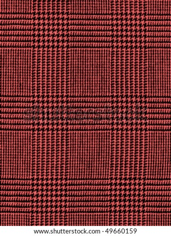 Close-up of a red checked plaid for background - stock photo