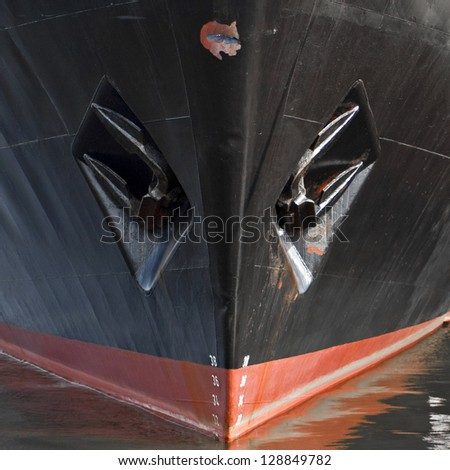 Close-up of a ship's hull - stock photo