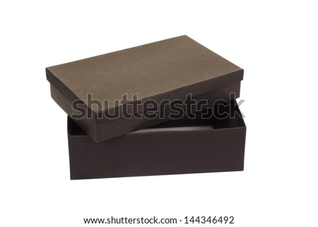 Close-up of a shoe box - stock photo