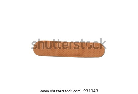 Close-up of a skin toned bandage - stock photo