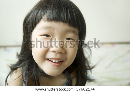 close-up of a smiling girl