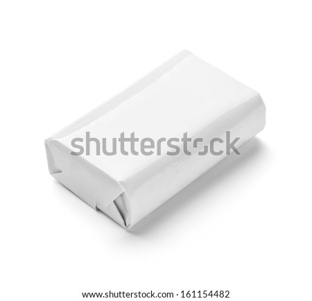 close up of  a soap on white background - stock photo