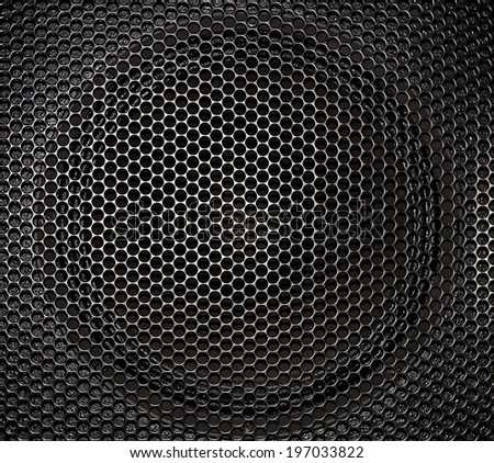 Close up of a speaker grille background - stock photo