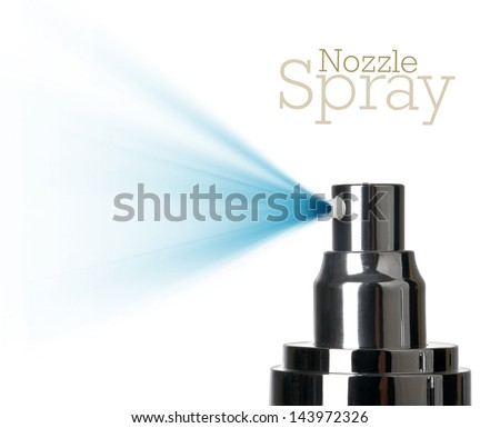 close up of a spray nozzle close-up on white background - stock photo