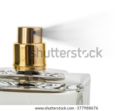 close up of a spray nozzle  on white background