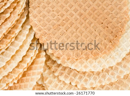 Close up of a stack of waffles