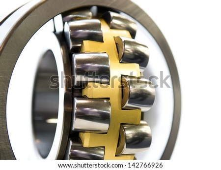 Close-up of a stainless steal bearing - stock photo