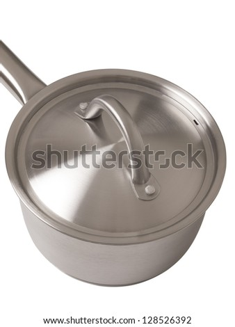 close up of a steel pot - stock photo
