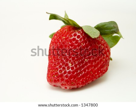 close-up of a strawberry - stock photo