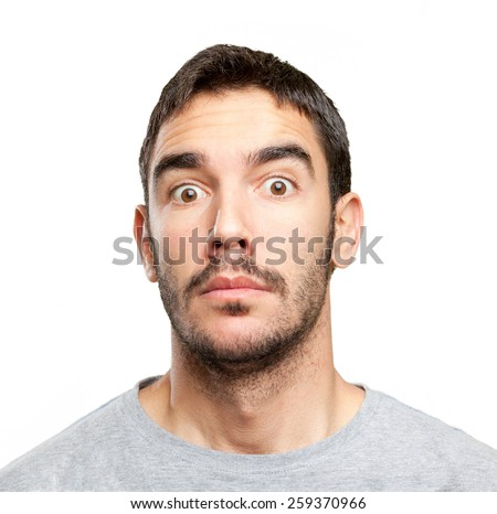 Close up of a surprised man