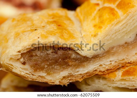 Close up of a tasty apple pie