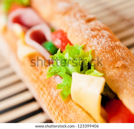 Close up of a tasty sandwich - stock photo