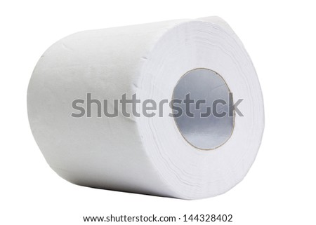 Close-up of a toilet paper roll