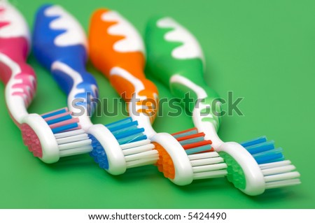 Close up of a toothbrush.  hygiene and medicine concept. - stock photo