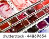 close up of a used color palette - stock photo