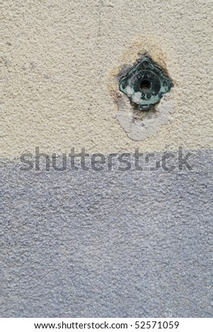 Close-up of a wall in a small village in France