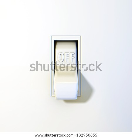 Close wall light switch off position ilustracin de stock132950855 close up of a wall light switch in the off position aloadofball