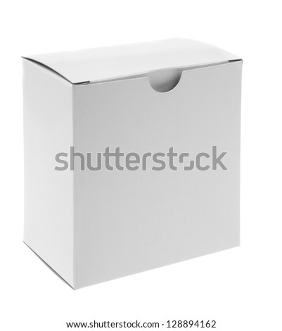 close up of a white box on white background - stock photo
