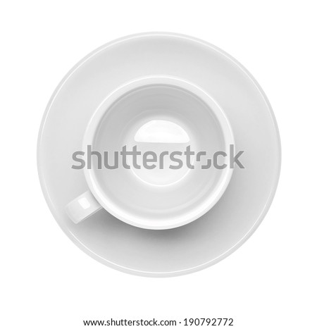 close up of  a white cup on white background - stock photo