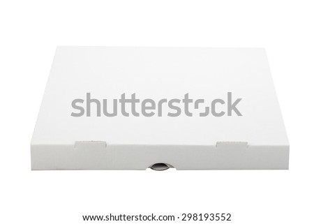 Close White Pizza Box Template On Stock Photo Royalty Free