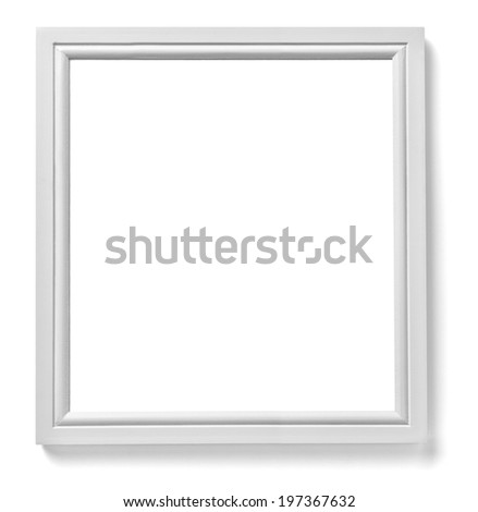 close up of a white wood frame on white background - White Wood Frame