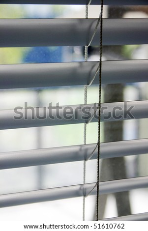 Close-up of a window blinds - stock photo