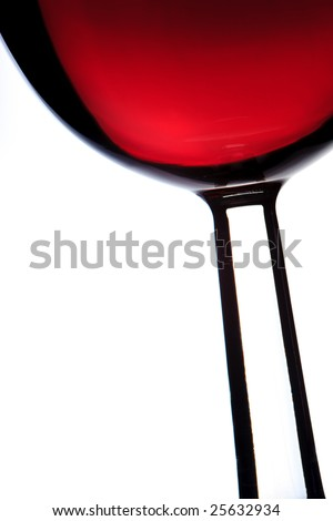 Close up of a wine glass