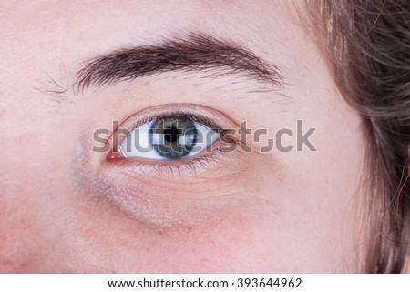 Close Up Of A Woman Eyes - stock photo