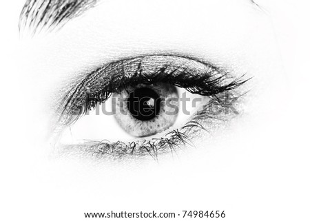 Close up of a woman eyes.