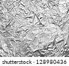 close up of aa aluminum foil on white background with clipping path - stock photo