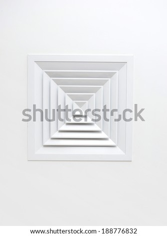 close up of air condition vent - stock photo