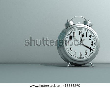 Close up of alarm clock - rendered in 3d