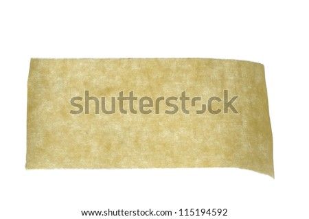 Close up of an adhesive tape on white background
