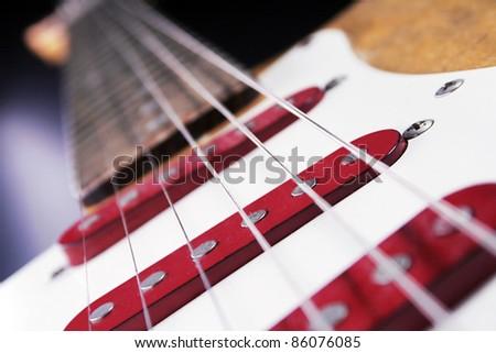 close up of an electric Guitar - stock photo
