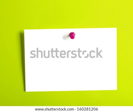 Close up of an empty Sticky on a wall