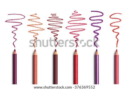 close up of  an eyeliner on white background - stock photo
