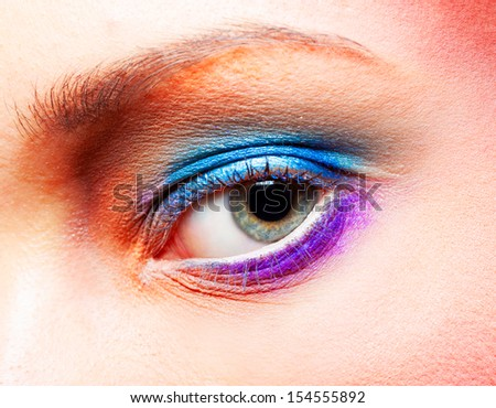 Close up of an eyes with fantasy make up